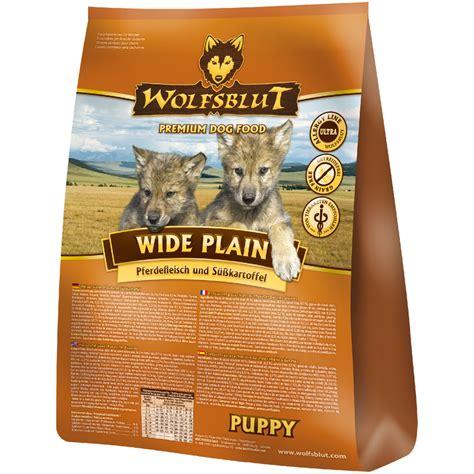 wolfsblut wide plain puppy mit pferdsuesskartoffel hunde