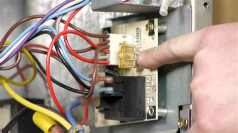replace  electric heater fuse electrical