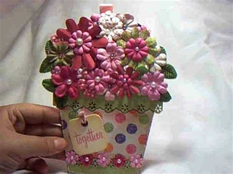 itzuvits flower pot shaped card youtube