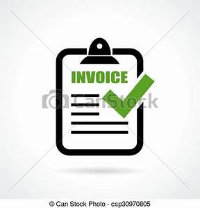 Icon Rechnung : invoice icon on white background vector clipart search illustration drawings and eps graphics ~ Themetempest.com Abrechnung