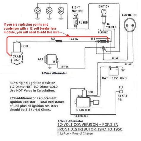 Wiring Diagram For Ford 8n 12 Volt by Ford 9n 12 Volt Conversion Wiring Diagram
