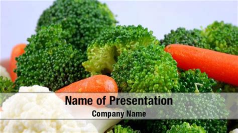 nutritious vegetables powerpoint templates nutritious