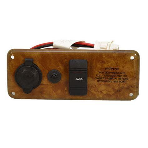 Pontoon Boat Switch Panel by Encore Faux Woodgrain 7 X 2 3 4 Plastic Pontoon Boat