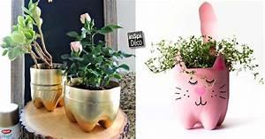 Deco De Noel Avec Bouteille En Plastique : un petit pot de fleurs avec une bouteille en plastique 17 id es ~ Dallasstarsshop.com Idées de Décoration