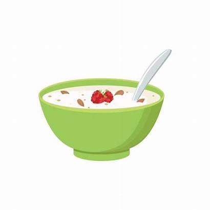 Cereal Bowl Background Milk Smoothie Vector Porridge