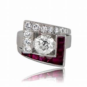 rare diamond and ruby retro engagement ring With rare wedding rings
