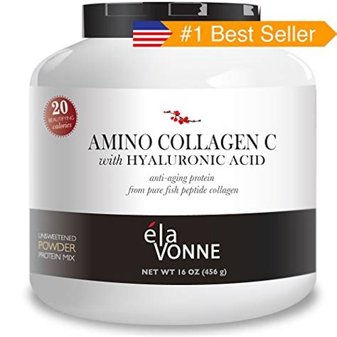 elavonne amino collagen   hyaluronic acid fish collagen peptide powder  oz ehouseholdscom