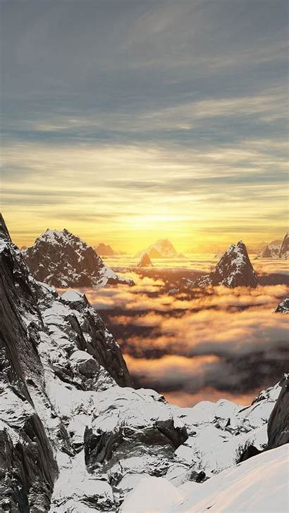 Cloud 4k Mountain Valley Snow Resolution Wallpapers