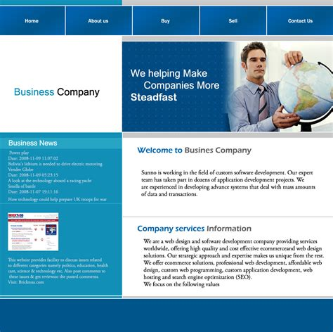 Business Template Free Sunnotemplates S