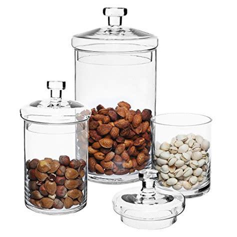 designer kitchen storage jars set of 3 clear glass kitchen bath storage canisters 6640
