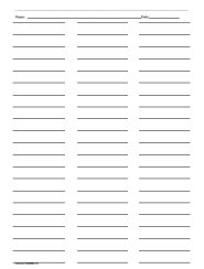 three column line ruled templates ruled paper with three columns printables lists