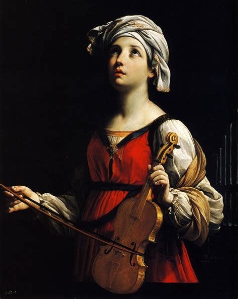 Baroque Artworks by St Cecilia Guido Reni Wikiart Org Encyclopedia Of