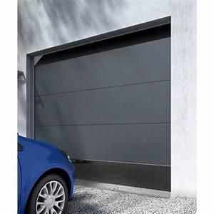 porte de garage sectionnelle londres grise castorama With porte de garage castorama