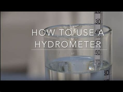 How To Use A Hydrometer Youtube