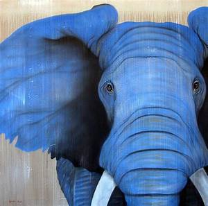 Blue-Elephant blue%20elephant-Thierry Bisch Animal painter