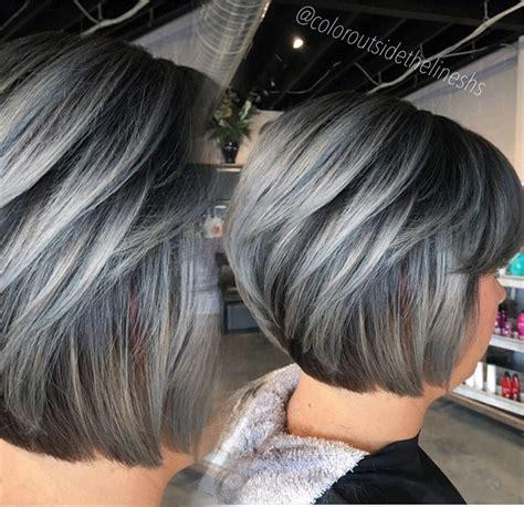 coloring hair gray formula dimensional silver hair color modern salon