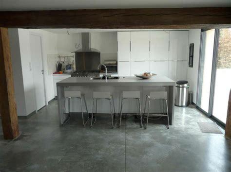 cuisine effet beton carrelage cuisine effet beton