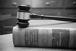 Black and White Gavel in Courtroom - Law Books | Gavel on ...