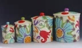 colorful kitchen canisters ceramic kitchen canisters sets foter
