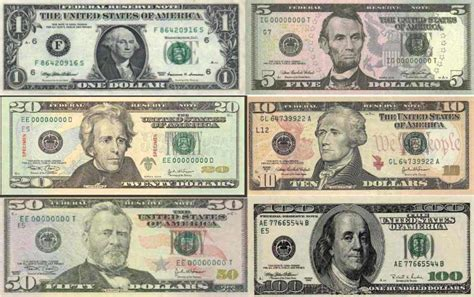 Usa Paper Currency (money) I Wabr Mire Of The Lower Right