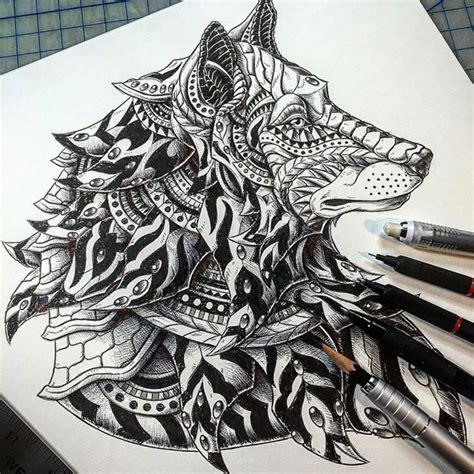 tattoo style animal illustrations  ben kwok designwrld