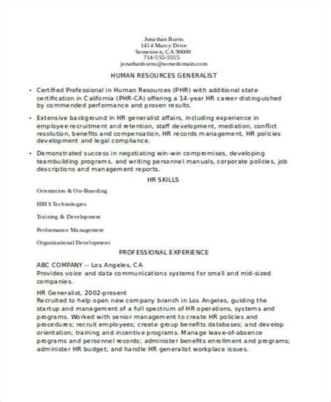 experienced resume format templates