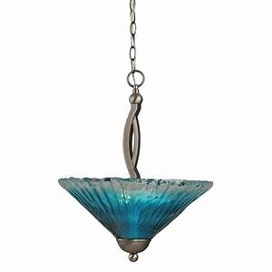 Filament design concord light brushed nickel pendant