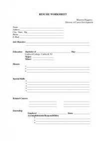 fill in resume template pdf free fill in the blank resume templates sles of resumes