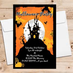anniversary party invitations 10 personalised haunted house party invitations n8