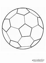 Ball Soccer Coloring sketch template