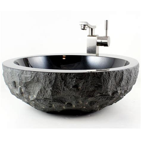 black granite vessel bathroom sinks natural stone absolute black granite finish bathroom