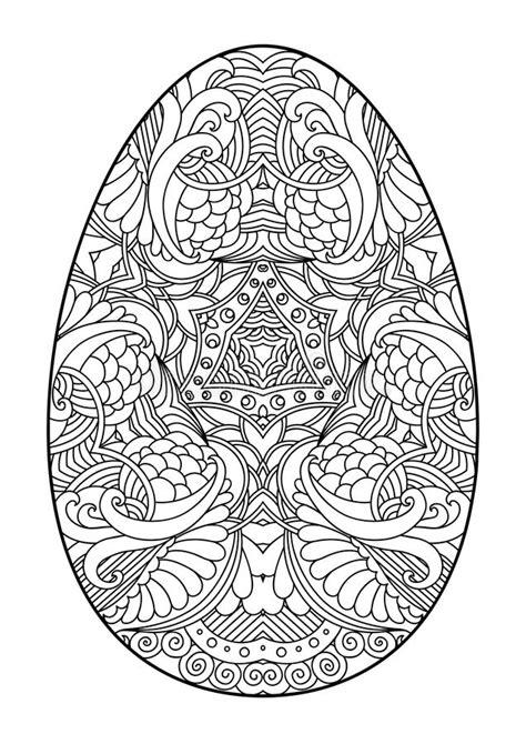 zentangle black  white decorative easter egg stock