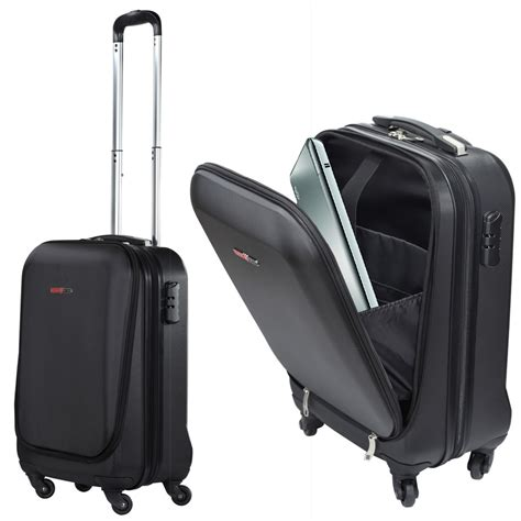 cabin luggage suitcase swisscase pro business traveller 20 quot abs 4 wheel cabin