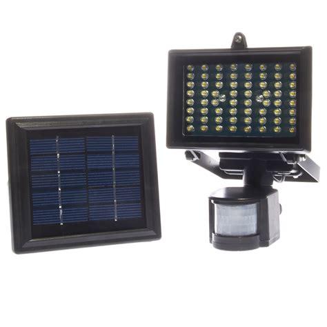 solar security lights 64 led solar powered outdoor digital pir motion sensor