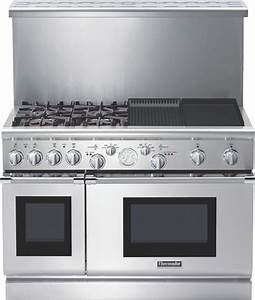 Thermador Prg484ecg 48 U0026quot  Pro Grand Gas Range Stainless Steel