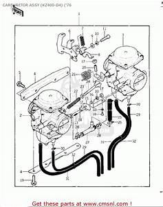 Kawasaki Kz400d 1975 Canada Carburetor Assy  Kz400-d4    U0026 39 76