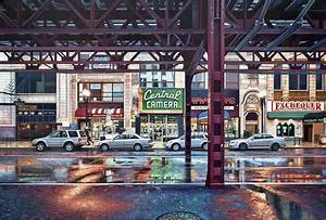 Les peintures hyper realistes de nathan walsh for Photorealistic paintings of chicago and new york by nathan walsh