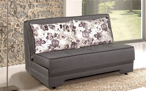 loveseat with pull out bed pull out loveseat bed in grey fabric by
