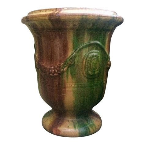 vintage french anduze pottery urn planter chairish