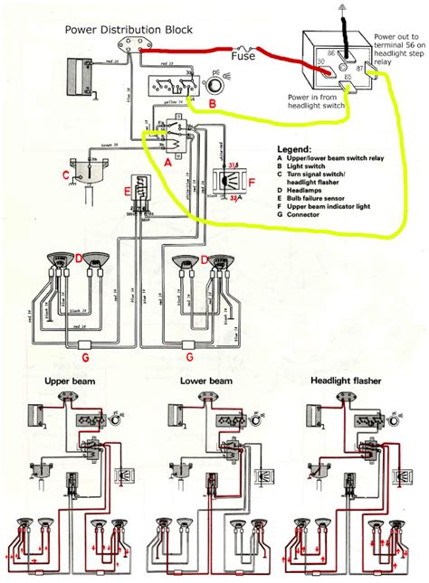 1989 Volvo 240 Wiring Diagram by Simple Headl Circuit Upgrade For 240 Models