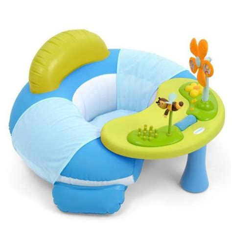 smoby siege gonflable siège gonflable cosy seat cotoons bleu smoby magasin