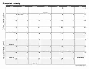 6 best images of 2 month calendar printable 2 month With 2 month calendar template 2014