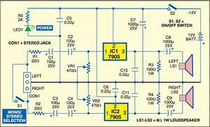1 Watt Stereo Audio Amplifier With Voltage Regulators