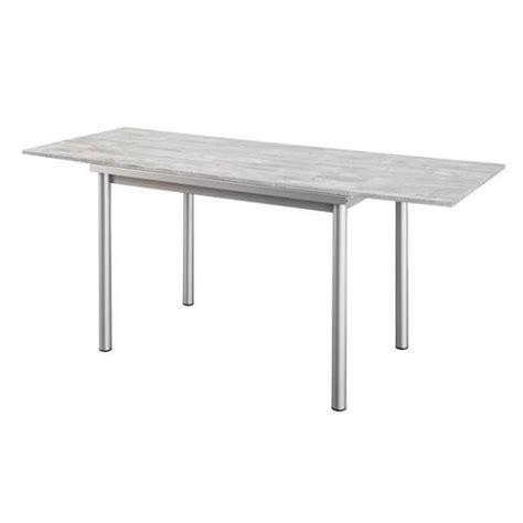 table de cuisine en stratifi 233 avec rallonges basic 4 pieds tables chaises et tabourets