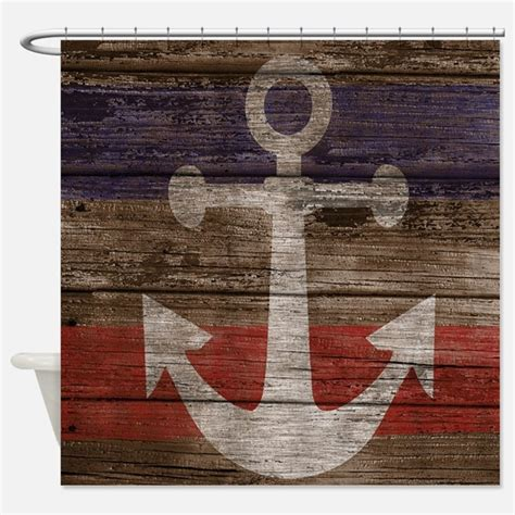 Nautical Anchor Shower Curtains  Nautical Anchor Fabric