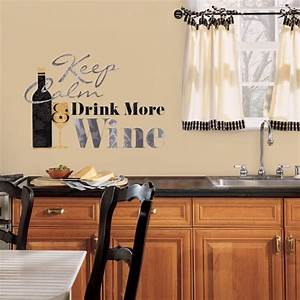 kitchen decorating ideas wine edition wall sticker With what kind of paint to use on kitchen cabinets for personalized decal stickers