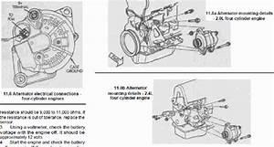 Service Manual  1998 Plymouth Breeze Alternator Removal
