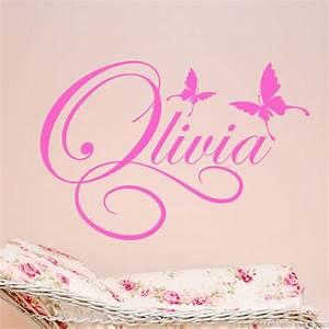 sticker personnalisable design papillons stickers With chambre bébé design avec fleurs de bach n 58