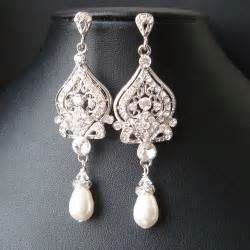 vintage wedding earrings vintage bridal earrings chandelier wedding earrings deco