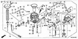 Honda Motorcycle 2005 Oem Parts Diagram For Carburetor  A